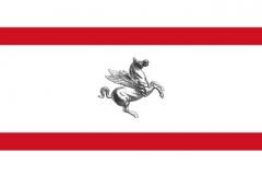 Флаг итальянской провинции Тоскана.